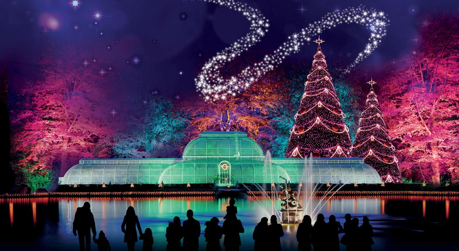A magia do natal em Kew Gardens
